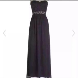 Modcloth Swept Up In Onyx Dress Size Small